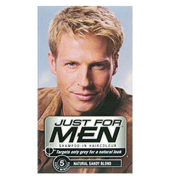 Just For Men Shampoo In Hair Colour Natural Sandy Blonde Buy