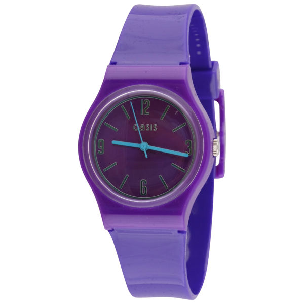 Oasis Women S Purple Round Plastic Watch Clothing Zavvi