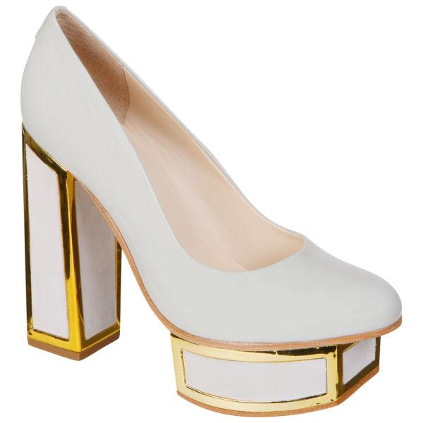 Kat Maconie Women's 'Valerie' Block Heels - Grey