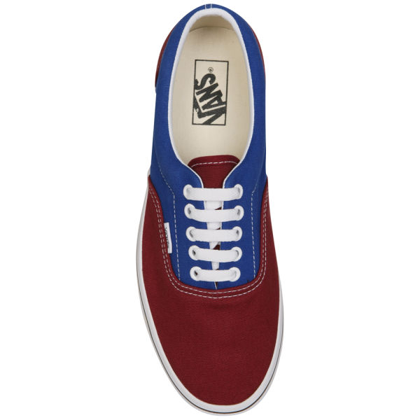 vans era 2 tone tawny red blue