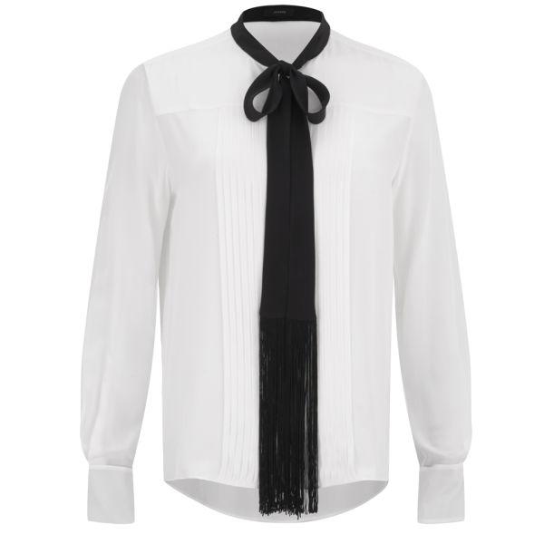 Joseph Women's Victoire Silk Shirt with Contrast Tie - Ecru