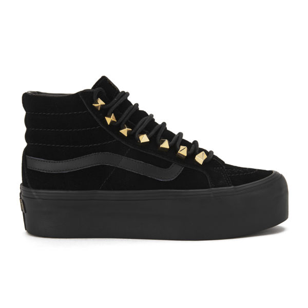 vans sk8 hi platform black high top trainers