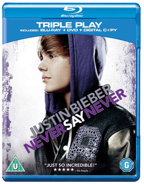 Justin Bieber: Never Say Never - Triple Play (Includes Blu-Ray, DVD and Digital Copy)