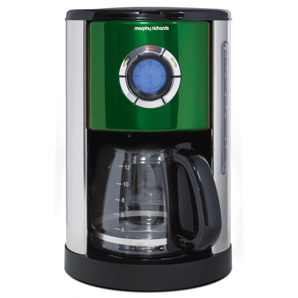 Morphy Richards Programmable Coffee Maker : Morphy Richards Accents Filter Coffee Maker - Green Homeware TheHut.com