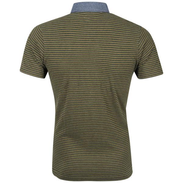 Boxfresh men 39 s kaori polo shirt forest green clothing for Forest green polo shirts