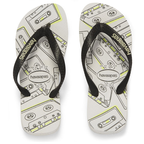 711dece09f5c95 Havaianas Sandalia 4 Nite Flip Flops - Black White  Image 1