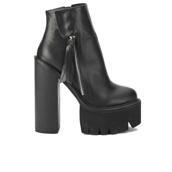 Jeffrey Campbell Women's Lynch Chunky Sole Heeled Ankle Boots - Black