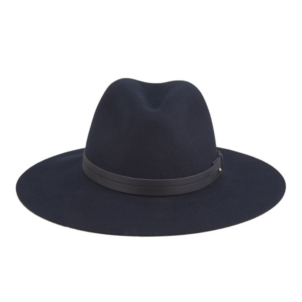 rag & bone Women's Wide Brim Fedora - Navy
