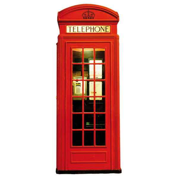 London Red Telephone Box Giant Wall Sticker | IWOOT