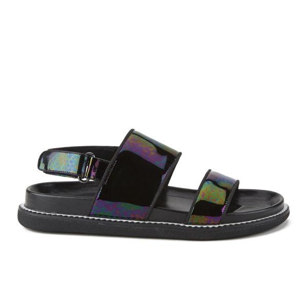 Senso Women's Karmyn II Patent Leather Sandals - Ebony