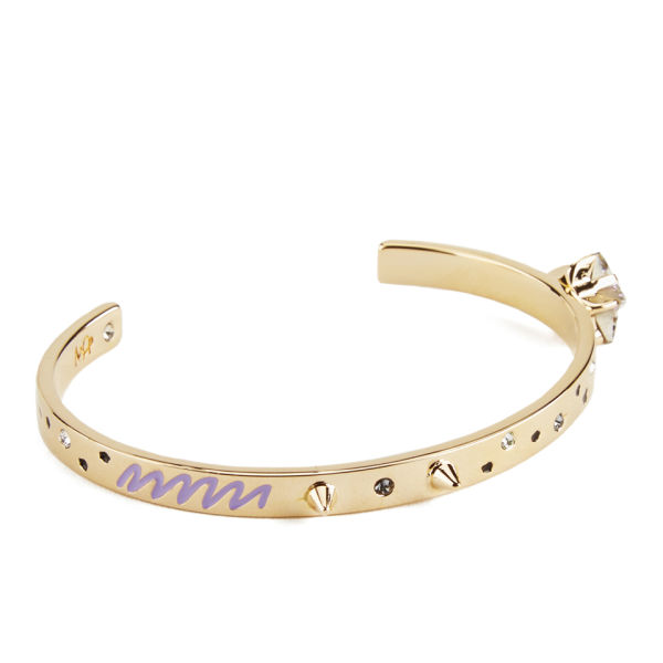 Maria Francesca Pepe Starry Night Thin Cuff - Gold