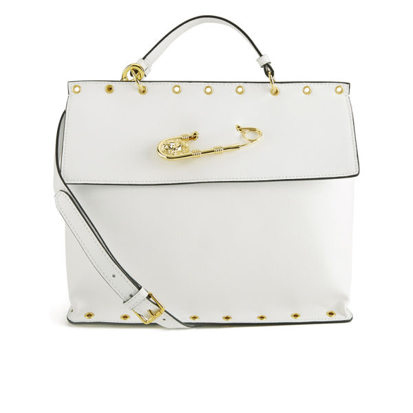 92388f44dc Versus Versace Women s Safety Pin Stud Tote Bag - White  Image 1