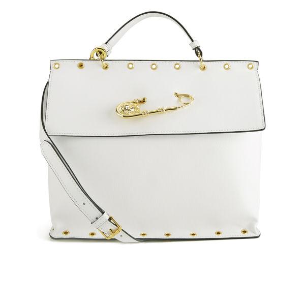 Versus Versace Women S Safety Pin Stud Tote Bag White Image 1