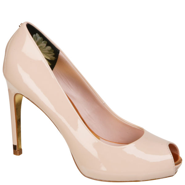 Ted Baker Women's Abesi Patent Open Toe Platform Shoes - Nude