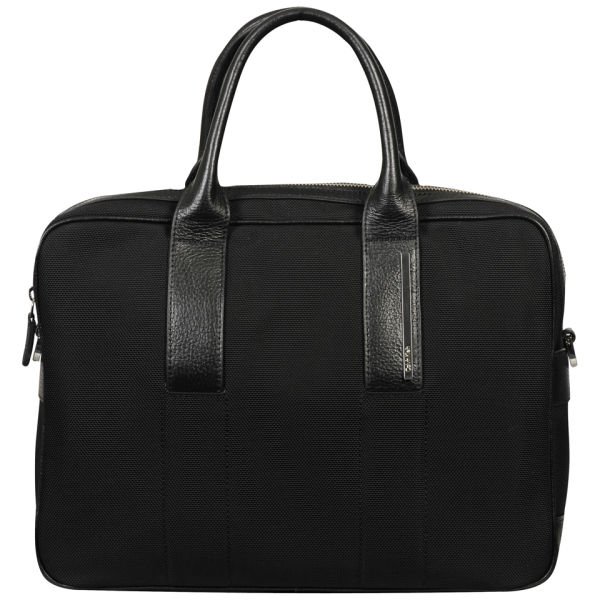 ... the latest f519f 4a51f Calvin Klein Mens Luca Pebble Leather Laptop Bag  - Black Image 1 ... 7ca46f689f088
