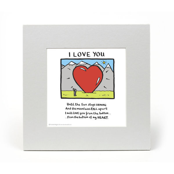 Edward Monkton I Love You Limited Edition Fine Art Print