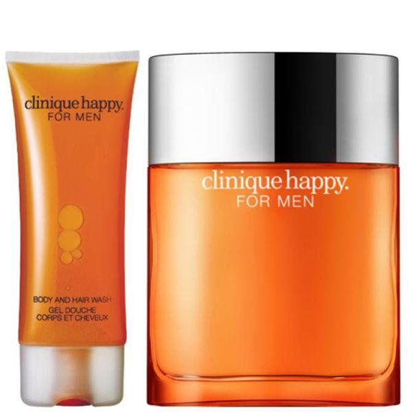 Clinique For Men Happy Duo (50ml Spray, Hair & Body Wash)