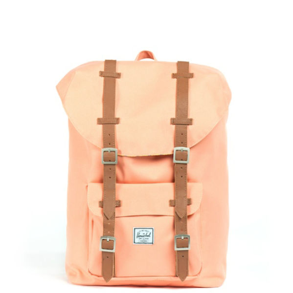 9d067c30f73f Herschel Supply Co. Little America Mid Volume Canvas Backpack - Coral   Image 1