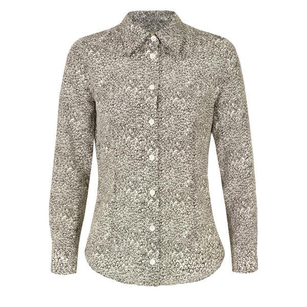 Peter Jensen Women's Sequin Print Collar Detail Shirt - White/Black