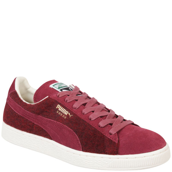 Puma Men's Suede City Trainers - Burgundy