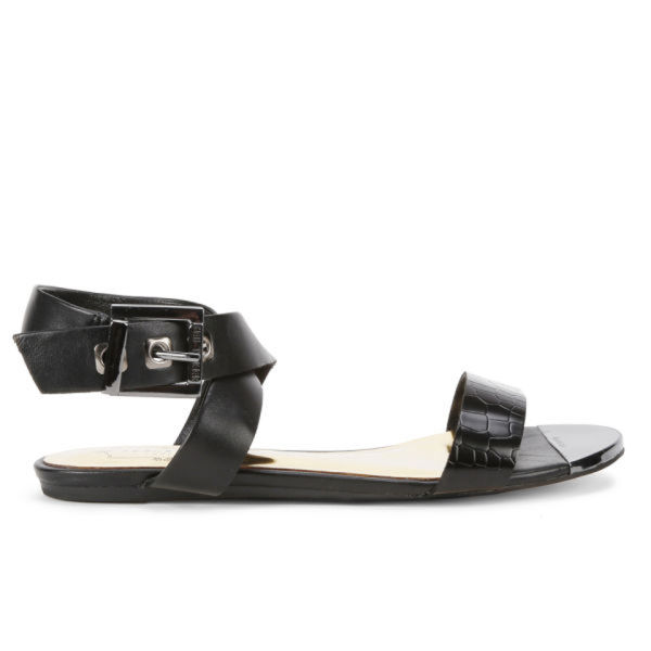 Ted Baker Women's Tabbey Leather Sandals - Black/Black Leather