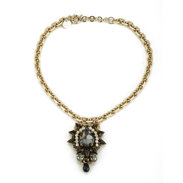 Matthew Williamson Opulent Jewel Chain Necklace - Black