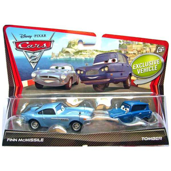Cars 2 Spy Attack Finn Mcmissile: Cars 2 - Character Finn McMissile Ad Tomber 2-Pack