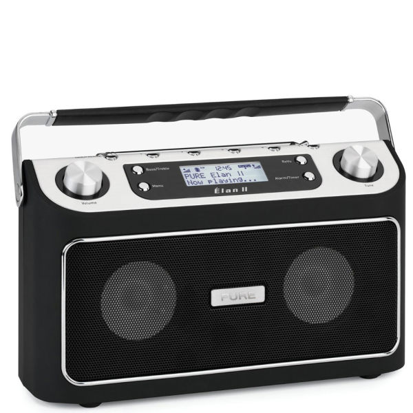pure elan ii portable stereo dab fm radio electronics. Black Bedroom Furniture Sets. Home Design Ideas