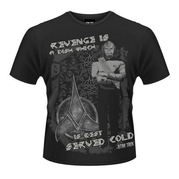 star trek men 39 s t shirt klingon revenge merchandise. Black Bedroom Furniture Sets. Home Design Ideas