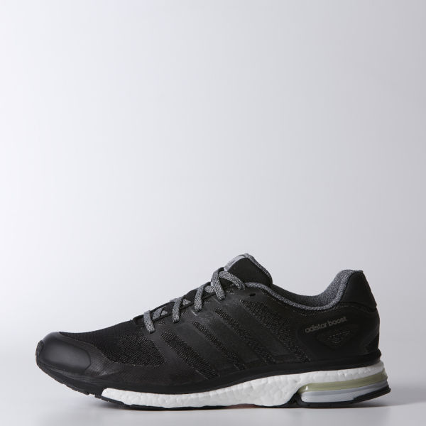 super popular 4314b 8db8b adidas Mens Adistar Boost Glow Running Shoes - BlackWhite Image 1