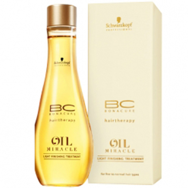 Schwarzkopf BC Hairtherapy Oil Miracle Light Finishing Treatment for Fine/Normal Hair (100ml)