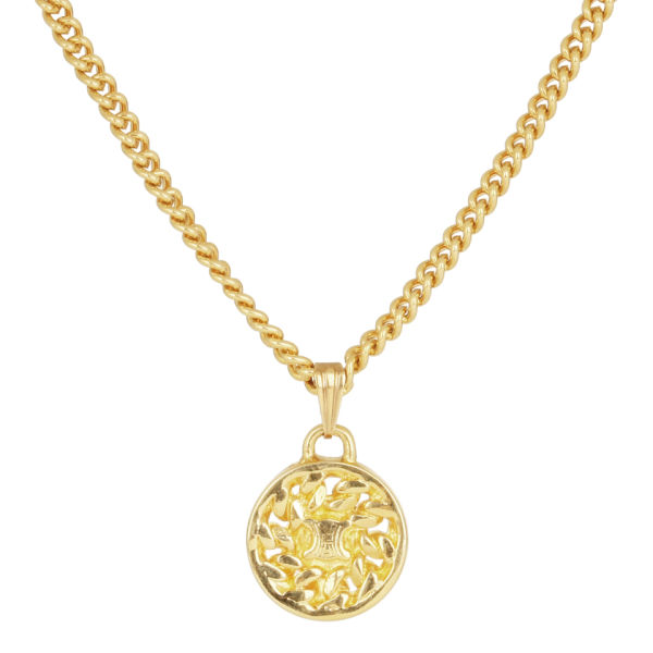 Susan Caplan Celine Gold Plated Rope Surround Circle Pendant