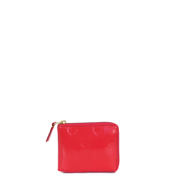 Comme des Garcons Wallet Women's SA7100NE Leather Wallet - Coral Red