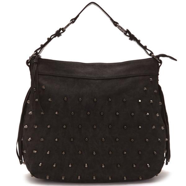 Paul s Boutique Alexa Studded Slouch Bag - Black  Image 1 9b079e4f8d410