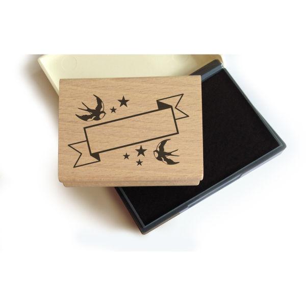 Lollipop Bookplate Stamp Set: Swallows