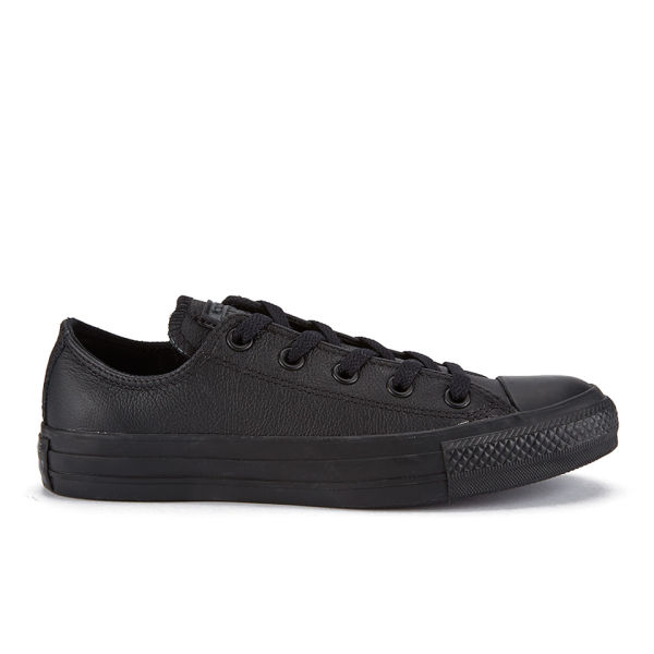 Converse Unisex Chuck Taylor All Star OX Leather Trainers - Black Monochrome
