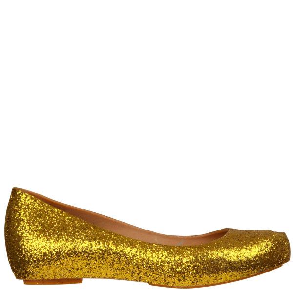 Melissa Women's Ultragirl Glitter Shoes - Gold