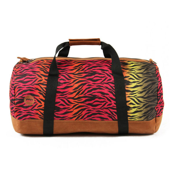Mi-Pac Hot Zebra Print Duffle Bag - Rainbow