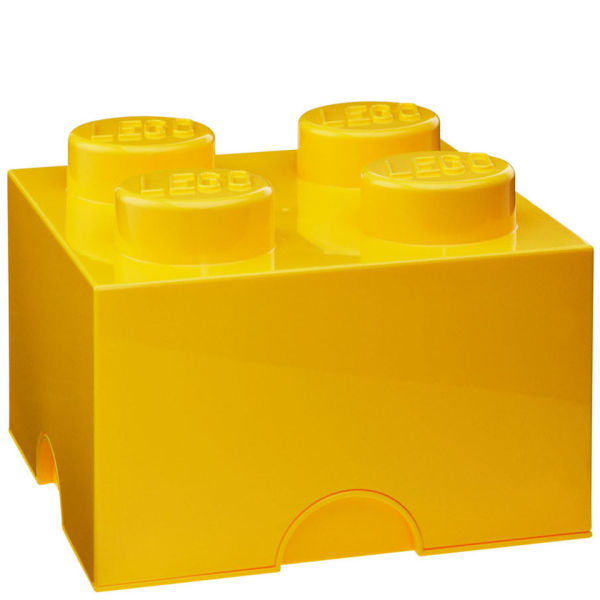 LEGO Storage Brick 4 - Yellow