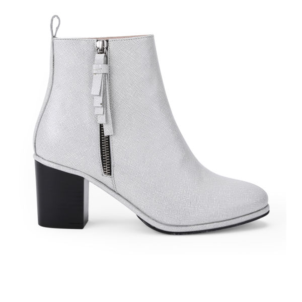 Opening Ceremony Women's Shirley Heeled Leather Ankle Boots - Black/White