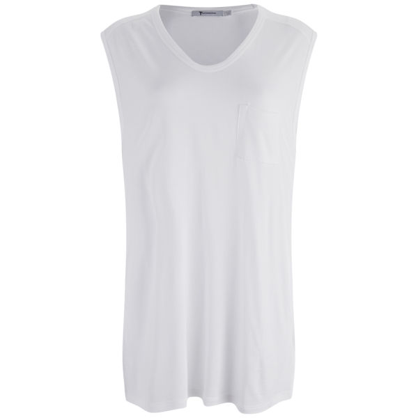T by Alexander Wang Women's Classic Muscle T-Shirt with Pocket - White