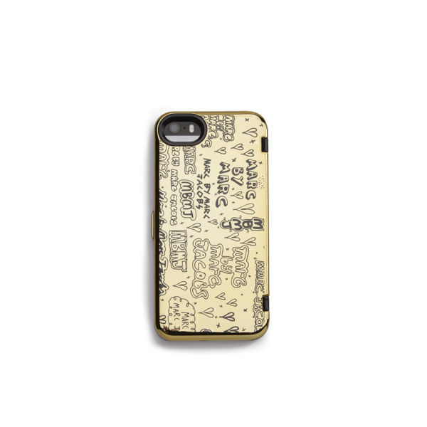 Marc by Marc Jacobs Scribble Mirror iPhone 5 Case - Gold Multi
