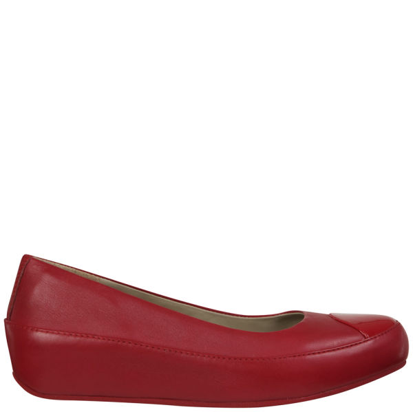 adde616edf1a68 FitFlop Women s Due Leather Ballerinas - Rouge  Image 1