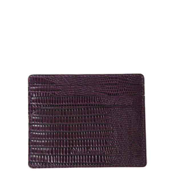 Oliver Sweeney Plato Leather Card Holder - Burgundy/Navy