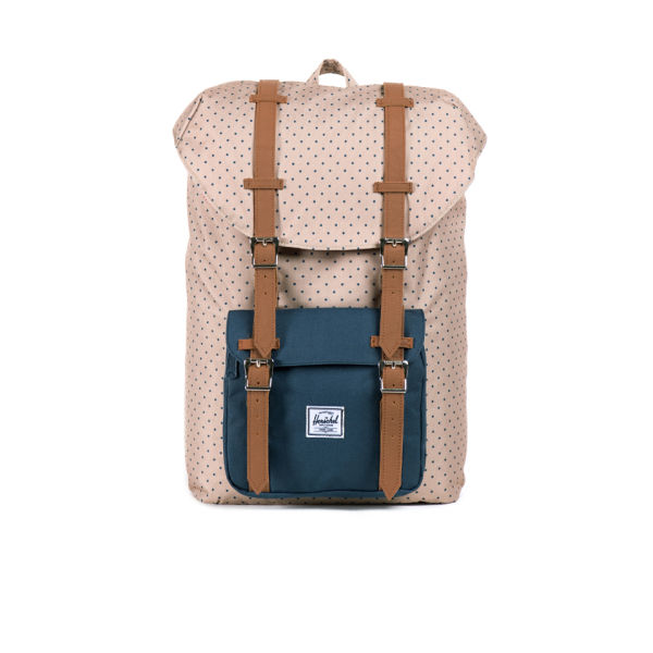 f7f2e06d15fa Herschel Supply Co. Little America Mid-Volume Backpack - Khaki Polka  Dot Navy