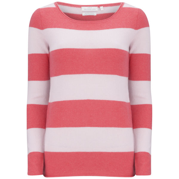 Delicate Love Women's Corali Stripe Cashmere Jumper - Red/Pink