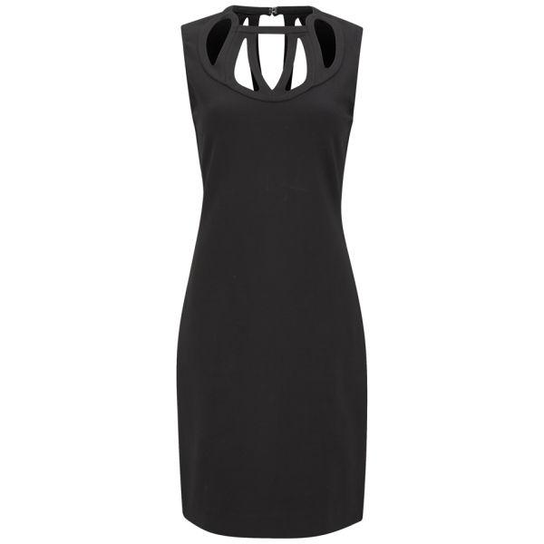 Diane von Furstenberg Women's Amy Cut Out Stretch Dress - Black