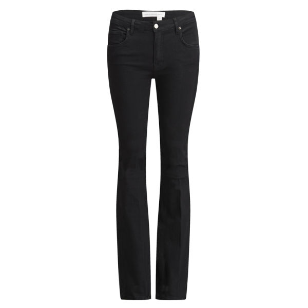 Victoria Beckham Women's Flare Mid Rise VB108 Jeans - Solid Black