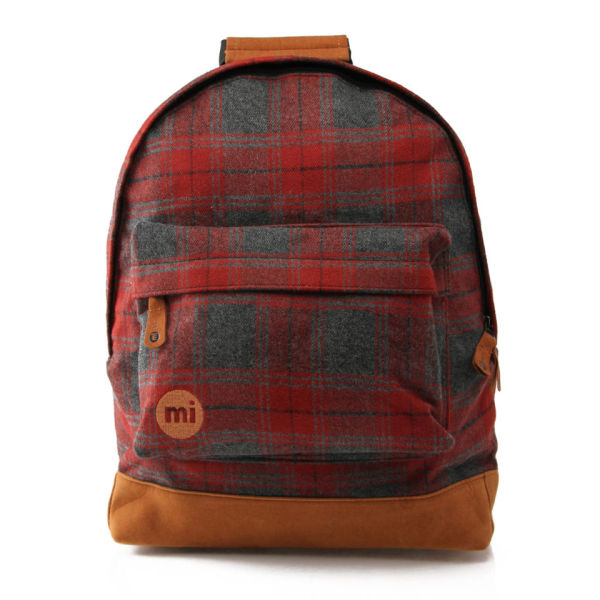 Mi Pac Plaid Backpack Red