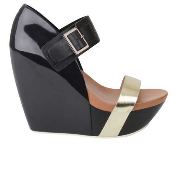 United Nude Women's Apollo Hi Wedges - Black/Gold